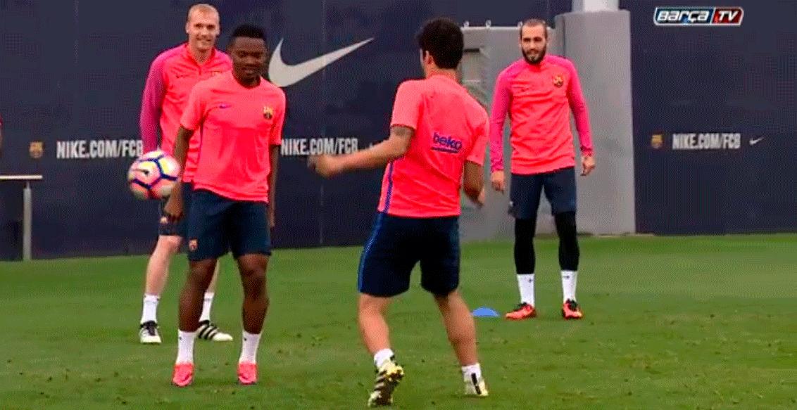 El Barça se entrena sin los internacionales y sin Messi
