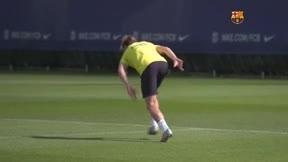 El Barça entrena tras pasar a cuartos