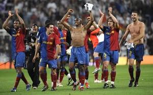 El FC Barcelona marcó seis goles en el Bernabéu en el duelo de la temporada 2008/2009: 2-6. La euforia final estaba justificada
