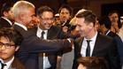 Bartomeu y Bordas saludan a Messi