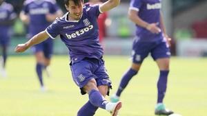 Bojan Krkic, ha sido homenajeado por los aficionados del Stoke City