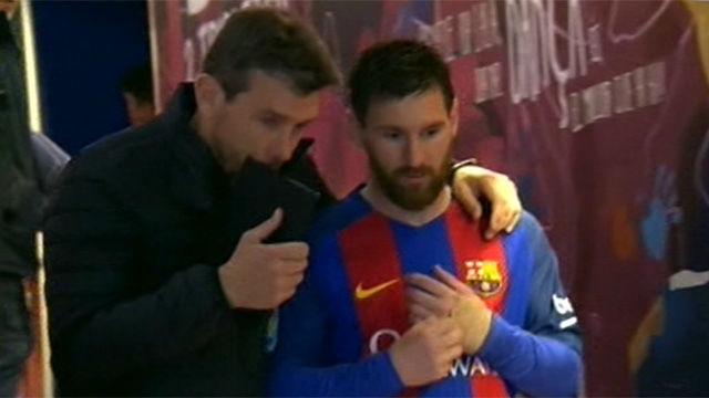 La charla de Unzué con Messi antes de la segunda parte