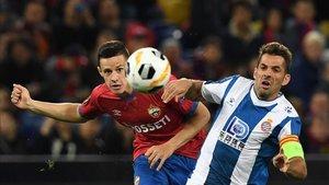 El Espanyol conquista Moscú por 0-2 con goles de Wu Lei y Campuzano