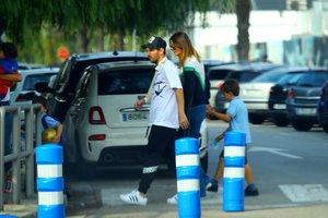 En exclusiva, las primeras fotografías de Messi tras su lesión, con el brazo en cabestrillo
