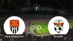 El Haro Deportivo golea 7-0 en el Municipal El Mazo al Arnedo