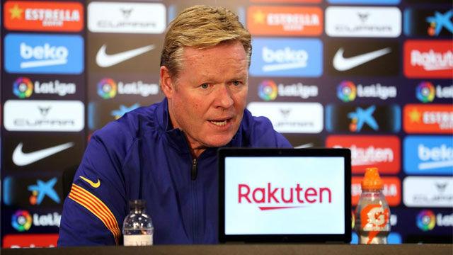 Koeman habló en la previa del duelo entre Barça y Osasuna