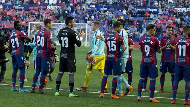 LALIGA | Levante - FC Barcelona (5-4): El pasillo del Levante