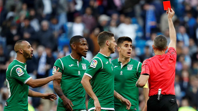 LALIGA | Real Madrid - Leganés (2-1): La expulsión de Gabriel Pires