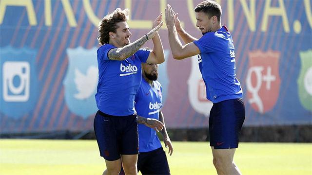 Lenglet, sobre Griezmann: Está contento en la selección y en el Barcelona