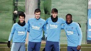 Los cuatro jugadores del filial que han estado en el entrenamiento del primer equipo