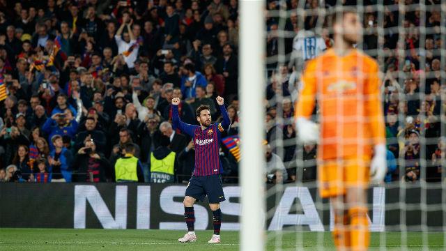 Messi acaba su sequía en cuartos con una obra de arte