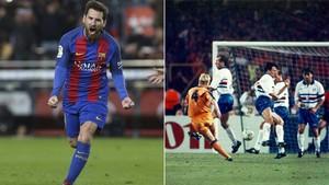 Messi, a superar el récord de 27 goles de falta de Koeman