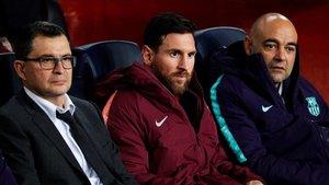 Messi, en una imagen en el Camp Nou