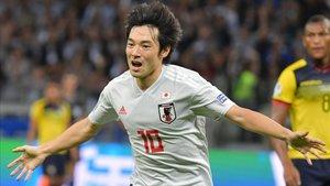 Nakajima en la recién participación en la Copa América