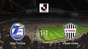 El Oita Trinita y el Vissel Kobe se reparten los puntos tras su empate a uno