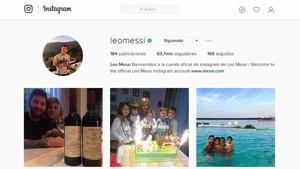 La página de Messi en Instagram