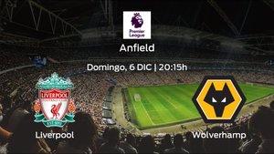 Previa del encuentro: Liverpool - Wolverhampton Wanderers