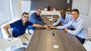 Primera cumbre técnica en Can Barça