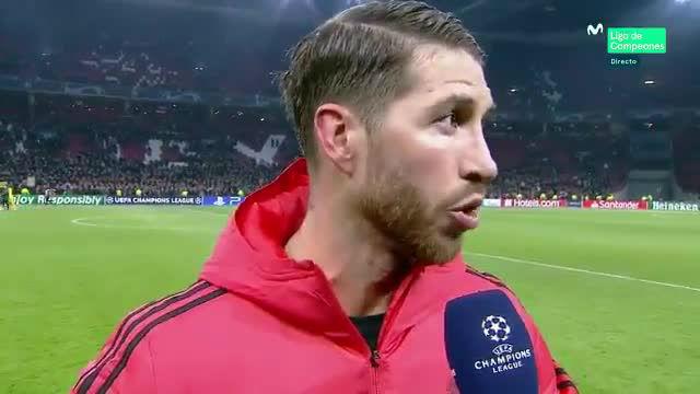 Sergio Ramos valoró el partido ante el Ajax