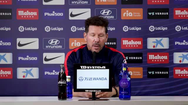 Simeone: Claro que pueden jugar juntos Suárez y Diego Costa