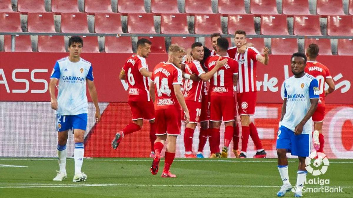 Stuani da los tres puntos al Girona ante el Zaragoza