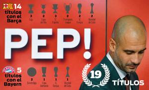 Todos los títulos de Pep Guardiola