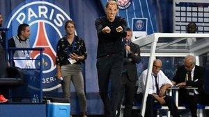 Tuchel, durante el partido ante el Toulouse