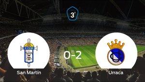 El Urraca CF se lleva tres puntos después de ganar 0-2 al San Martín