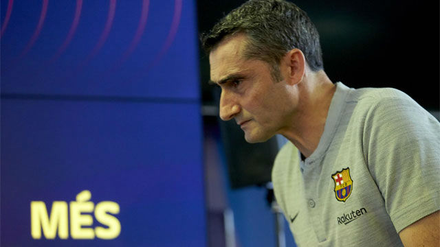 Valverde respondió a las dudas sobre su futuro en el Barça