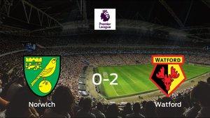 Victoria del Watford frente al Norwich City (0-2)