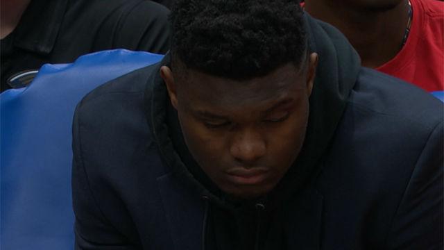 Zion Williamson se vuelve a quedar dormido en mitad del partido