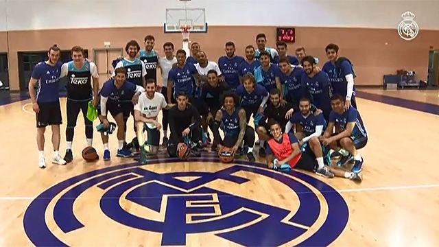 Entrenamiento conjunto del Real Madrid de fútbol y baloncesto e446b5287ba90