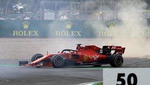 Vettel, después del choque con Verstappen en Silverstone