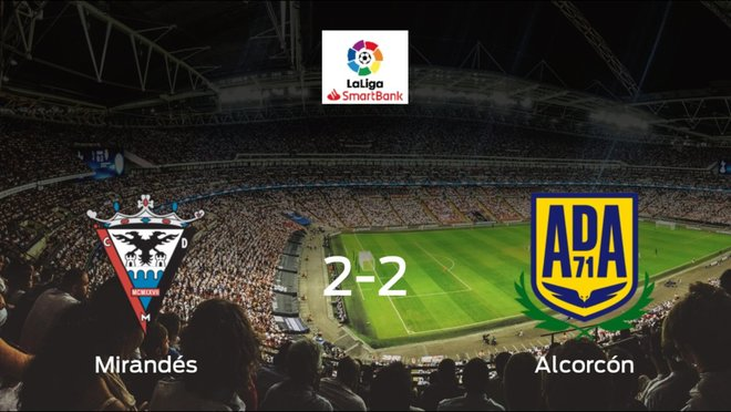 El CD Mirandés y el Alcorcón empatan y se llevan un punto (2-2)