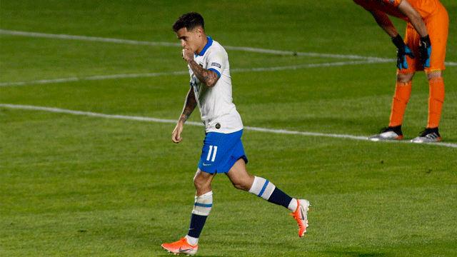 La afición brasileña se decanta por Coutinho en lugar de Neymar