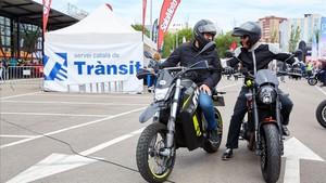 Albert Balanzá de SCT y Antonio Muniente director editorial de Solo Moto, preparados para realizar el recorrido