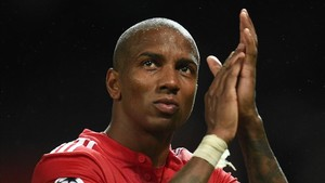 Ashley Young lleva jugados 30 partidos con el Manchester United esta temporada