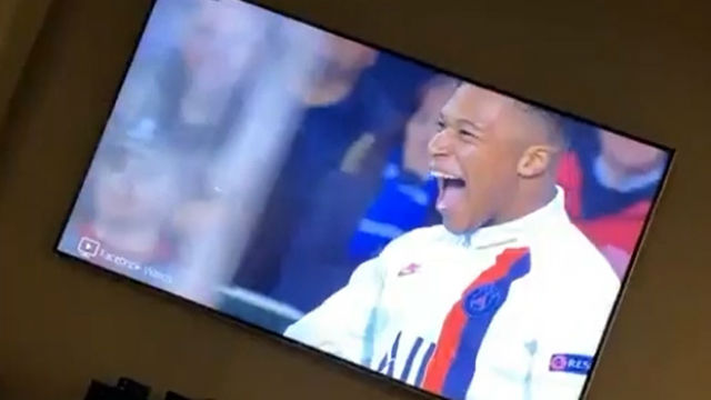 Así celebró Neymar el hat-trick de Mbappé