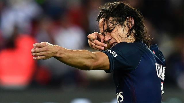 Así marca Cavani en el PSG