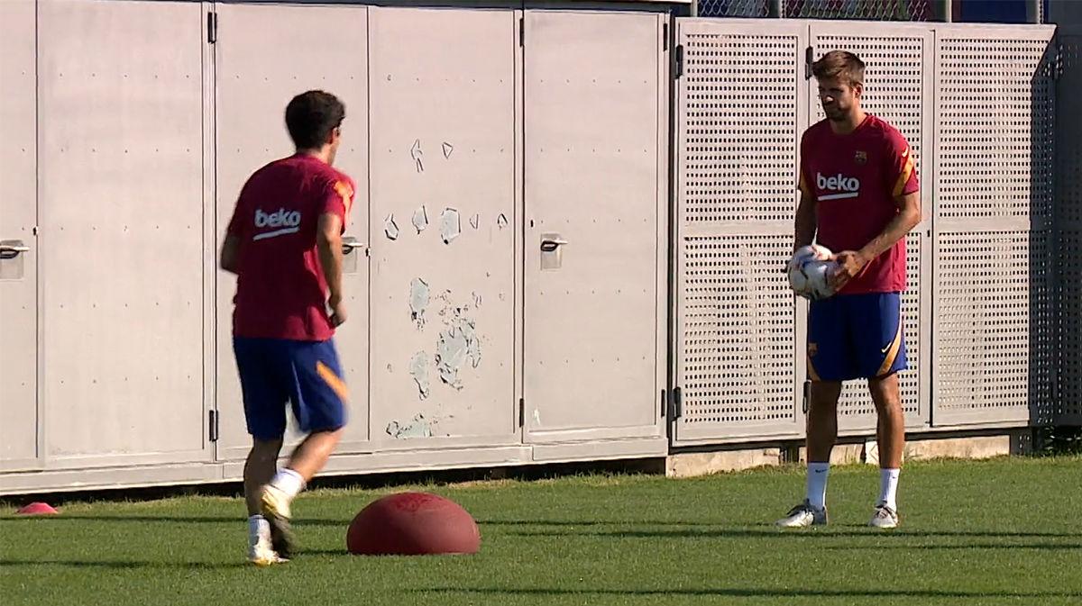 El Barça sigue entrenando todavía sin Messi