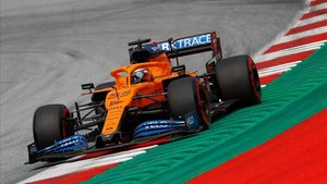 Carlos Sainz durante la sesión de libres