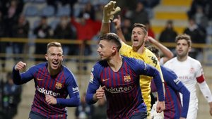 Clement Lenglet dio el triunfo al Barça ante la Cultural Leonesa