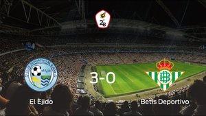El CD El Ejido 2012 consigue los tres puntos en casa tras pasar por encima al Betis Deportivo (3-0)
