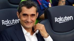 Ernesto Valverde vivió la victoria más abultada de su equipo