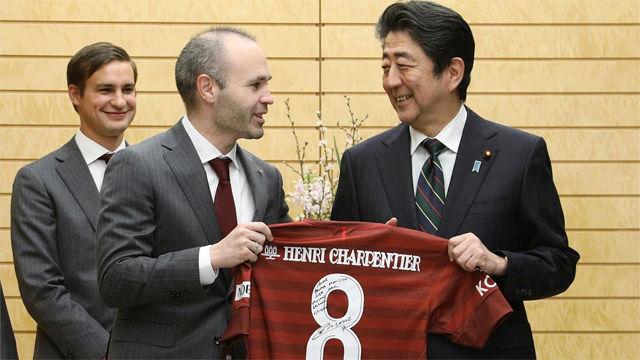 Iniesta visita al primer ministro de Japón: Soy muy optimista esta temporada