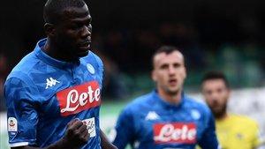 Koulibaly firmó un doblete contra el Chievo