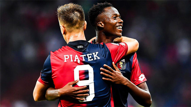 Krzyisztof Piatek marcó cuatro goles en la Copa italiana