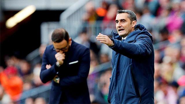 LALIGA | FC Barcelona - Getafe (0-0): Valverde vio la amarilla por protestar