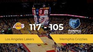 Los Angeles Lakers consigue la victoria frente a Memphis Grizzlies por 117-105