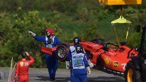Los Ferraris no acabaron la carrera